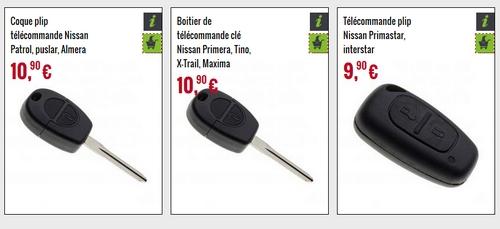coque de clé Nissan